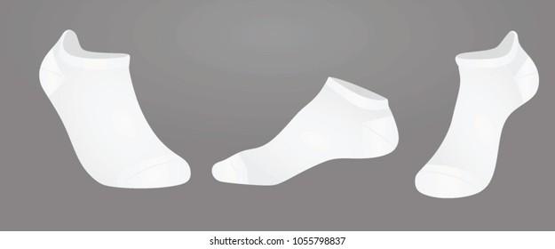 Short socks. vector illustration