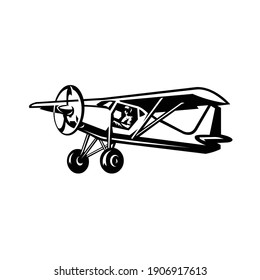 Short Takeoff and Landing aircraft, small plane, STOL airplane vector isolated
