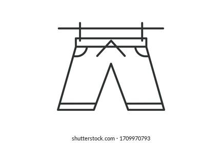 Shorts, boxer, clothes, clothing, sport, sports, wear, pants, male, cotton, textile, stylish, men free vector icon