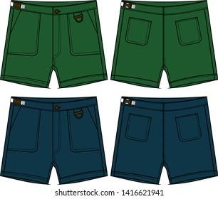 shorts cargo for men vector template