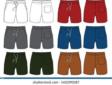 Shorts design Color template fashion vector illustration