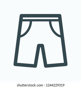 Shorts icon, swimming shorts vector icon