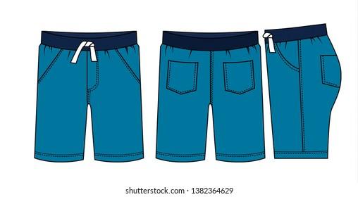 shorts for  men vector template