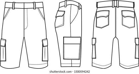 shorts for men vector template