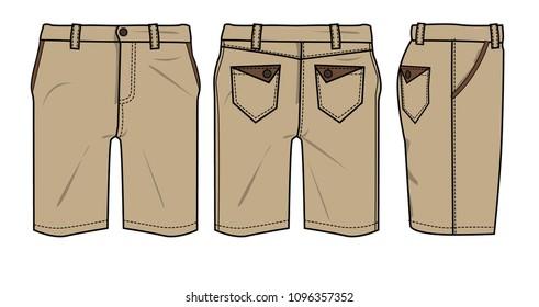 shorts vector design