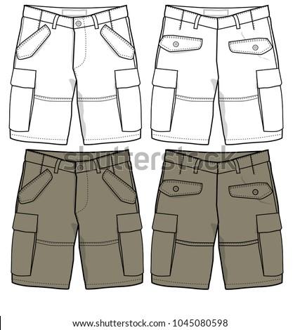 21eec13d1b Shorts Vector Design Vector de stock (libre de regalías)1045080598 ...