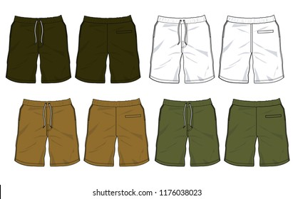 shorts vector template for design