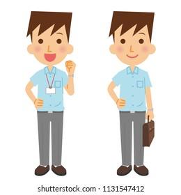 A short-sleeved businessman.