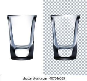 Shot Glass. Vector illustration