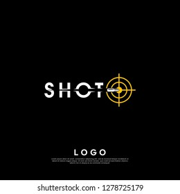 Shot logo design template. creative sign. Universal vector icon. - Vector