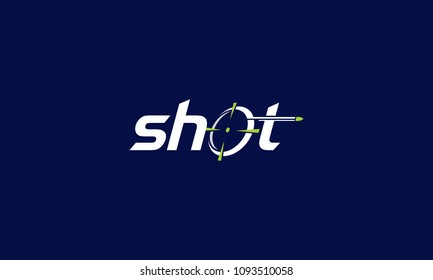 Shot targeted bullet logo