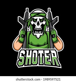 Shoter sport or esport gaming mascot logo template, for your team