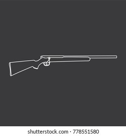 Shotgun icon, vector illustration design. War collection.