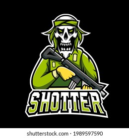 Shotter sport or esport gaming mascot logo template, for your team