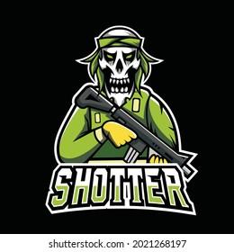 Shotter Vector Gaming Logo Design Template