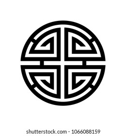 Shou, Symbol for longevity.  Means good health and a long life, Feng Shui