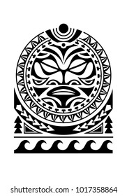shoulder tattoo with sun maori style