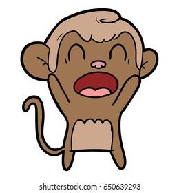 shouting cartoon monkey