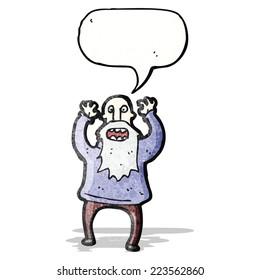 shouting old man cartoon