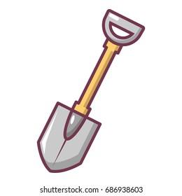 Shovel icon. Cartoon illustration of shovel vector icon for web design
