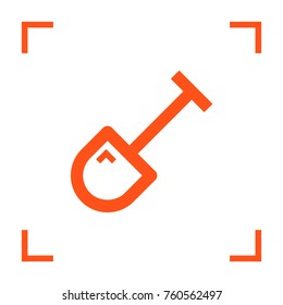 Shovel minimal vector icon. Spade flat line icon for websites and mobile minimalistic flat design.