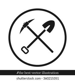 Shovel Pickax Icon