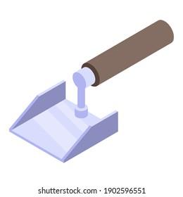 Shovel spatula icon. Isometric of shovel spatula vector icon for web design isolated on white background