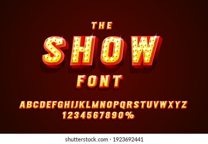 Show font set collection, letters and numbers symbol. Vector illustration