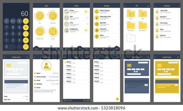 Show Hidden Files App Ui Design Stock Vector (Royalty Free