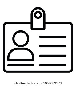 Show identity with this id card line icon design
