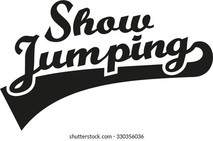 Show jumping word retro
