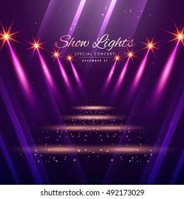 show lights entrance background