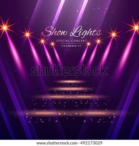 show lights entrance background のベクター画像素材 ロイヤリティ