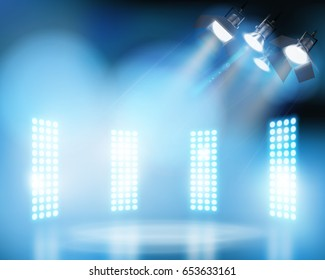 Show on the stage. Vector illustration.