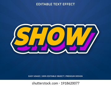 show text effect template design with bold style and 3d concept use for business brand and logo