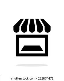 Showcase icon on white background. Vector illustration.