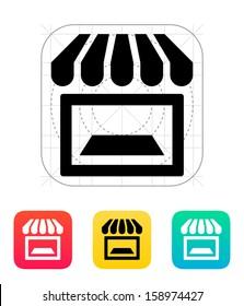 Showcase icon. Vector illustration.