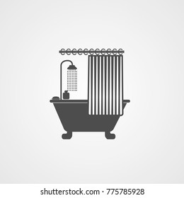 shower curtain icon