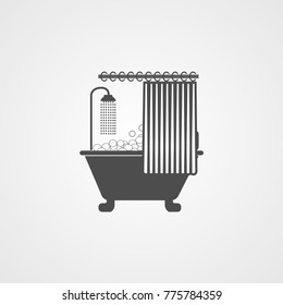 shower curtain illustration icon