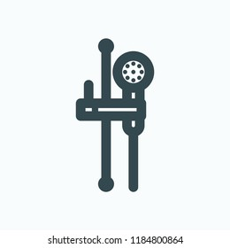 Shower headset vector icon