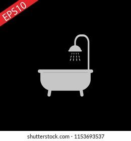 The shower icon. Bathroom symbol. Flat Vector illustration.eps 10