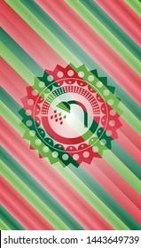 shower icon inside christmas badge.
