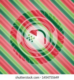 shower icon inside christmas colors style emblem.
