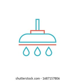 shower icon vector illustration. shower icon with two color style