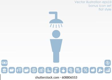 Shower male icon vector illustration EPS 10