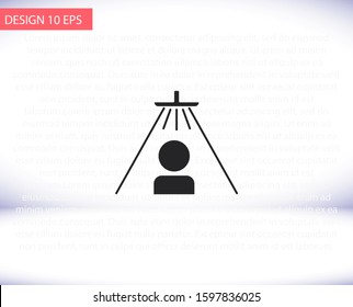Shower for man vector icon