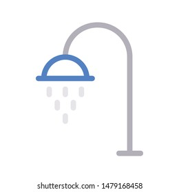 shower thin line vector icon