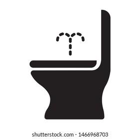 shower toilet/bidet flat vector icon