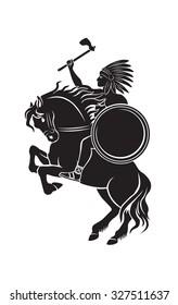 Shown Indian on horseback