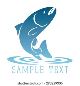 Shown logo fish